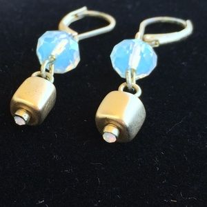 Jewelry - Earrings, gold color, dangle, 1.5 inches length